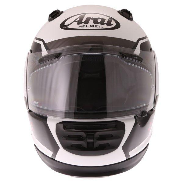 Arai Rebel Venturi White Full Face Motorcycle Helmet Front