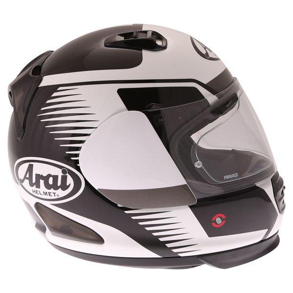 Arai Rebel Venturi White Full Face Motorcycle Helmet Right Side