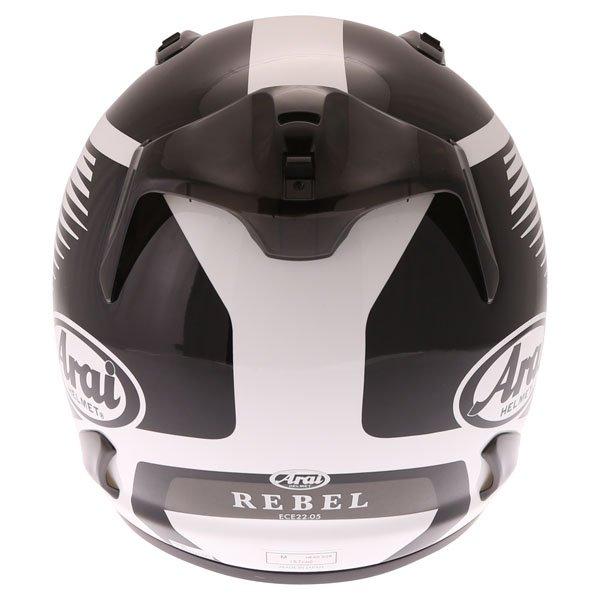 Arai Rebel Venturi White Full Face Motorcycle Helmet Back