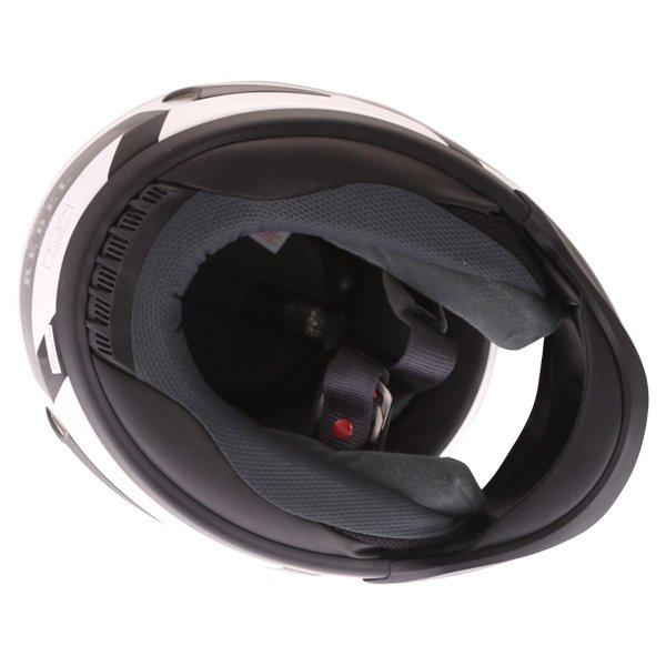 Arai Rebel Venturi White Full Face Motorcycle Helmet Inside