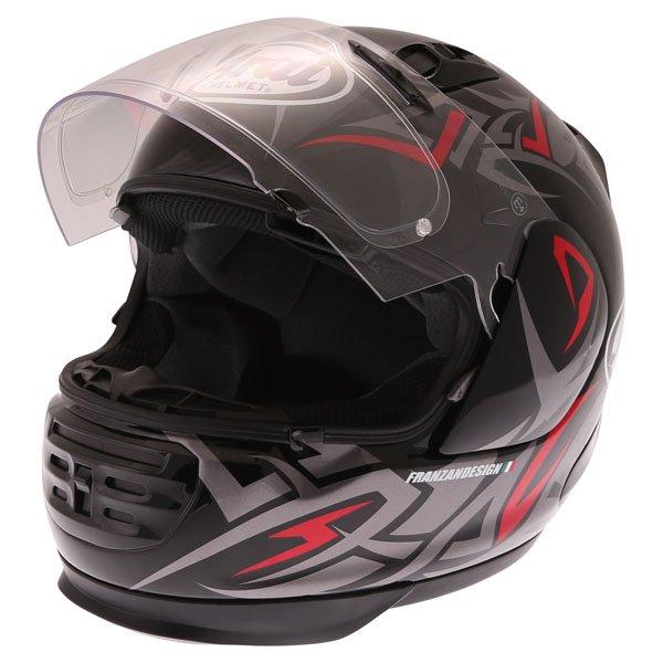 Arai Rebel Groove Full Face Motorcycle Helmet Open Visor