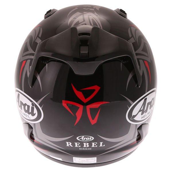 Arai Rebel Groove Full Face Motorcycle Helmet Back