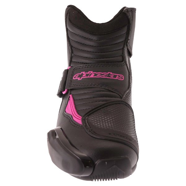 Alpinestars Stella SMX 1 R Black Pink Short Motorcycle Ankle Boots Front