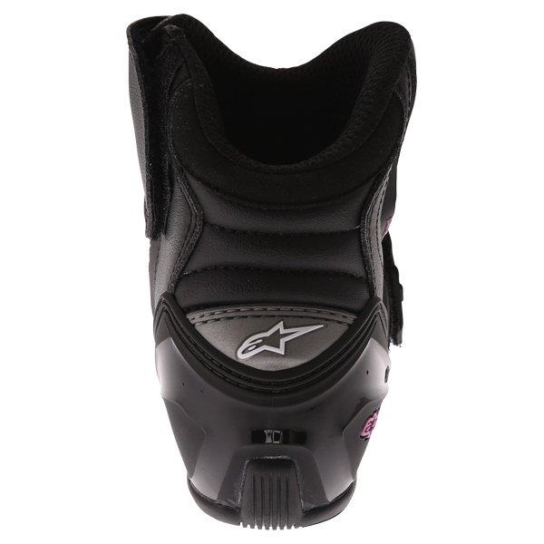 Alpinestars Stella SMX 1 R Black Pink Short Motorcycle Ankle Boots Heel