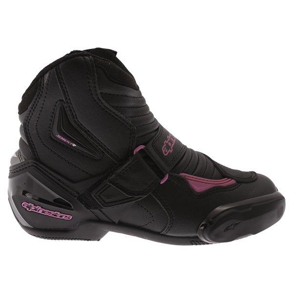 Alpinestars Stella SMX 1 R Black Pink Short Motorcycle Ankle Boots Outside leg