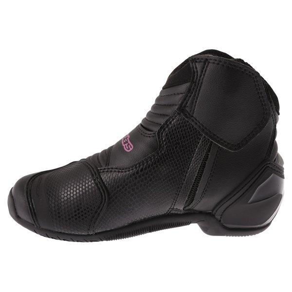 Alpinestars Stella SMX 1 R Black Pink Short Motorcycle Ankle Boots Inside leg