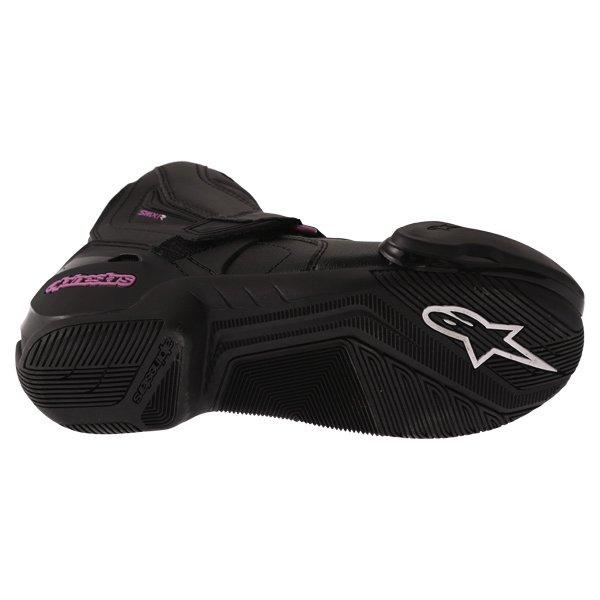 Alpinestars Stella SMX 1 R Black Pink Short Motorcycle Ankle Boots Sole