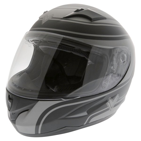 Frank Thomas FT36 Matt Black Grey Full Face Motorcycle Helmet Front Left