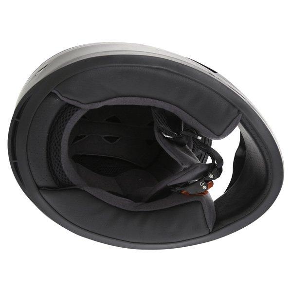 Frank Thomas FT36 Matt Black Grey Full Face Motorcycle Helmet Inside