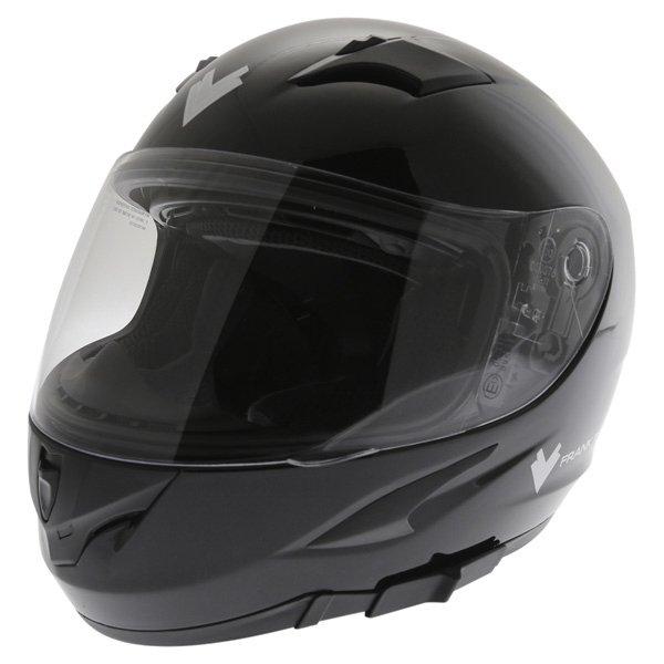 Frank Thomas FT36SV Black Full Face Motorcycle Helmet Front Left