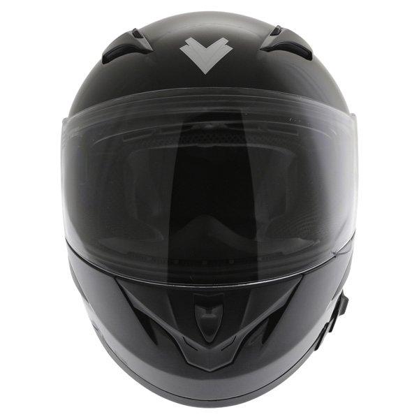 Frank Thomas FT36SV Black Full Face Motorcycle Helmet Front