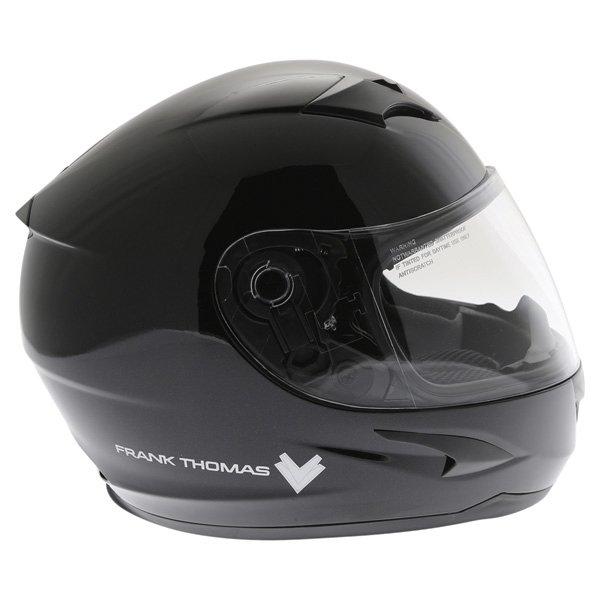 Frank Thomas FT36SV Black Full Face Motorcycle Helmet Right Side