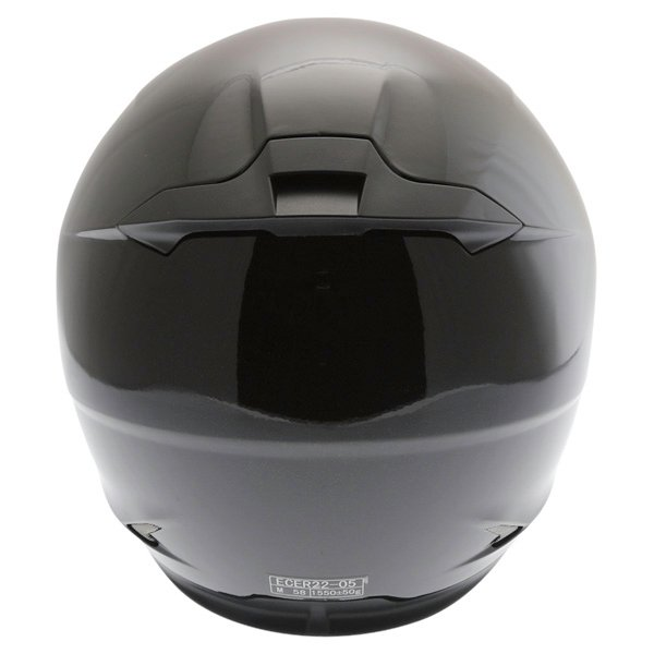 Frank Thomas FT36SV Black Full Face Motorcycle Helmet Back