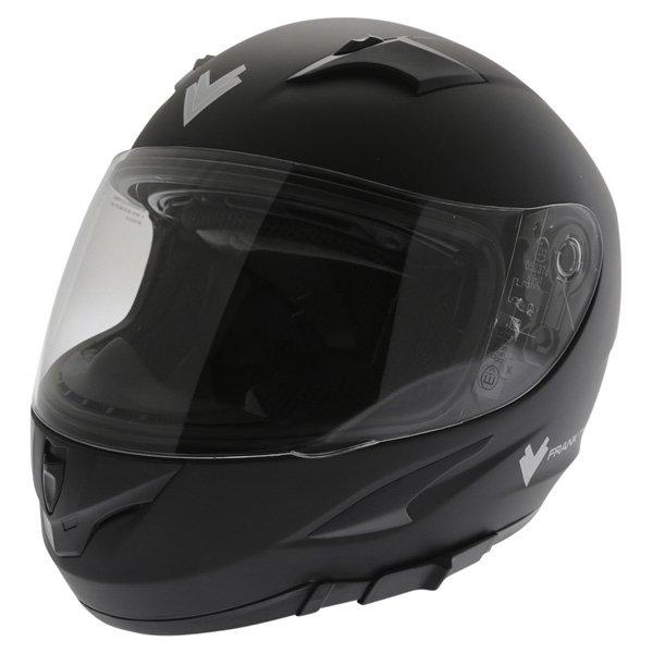 Frank Thomas FT36SV Matt Black Full Face Motorcycle Helmet Front Left