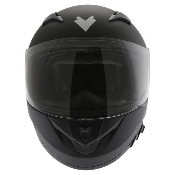 Frank Thomas FT36SV Matt Black Full Face Motorcycle Helmet Front