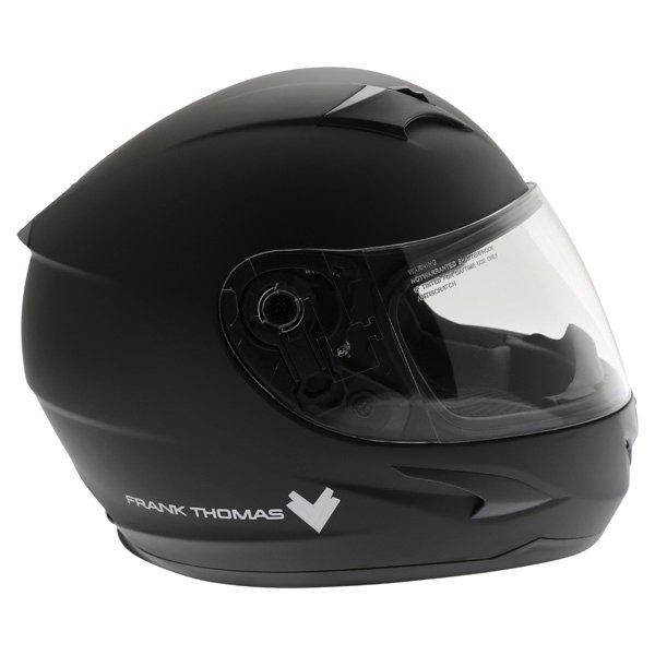 Frank Thomas FT36SV Matt Black Full Face Motorcycle Helmet Right Side