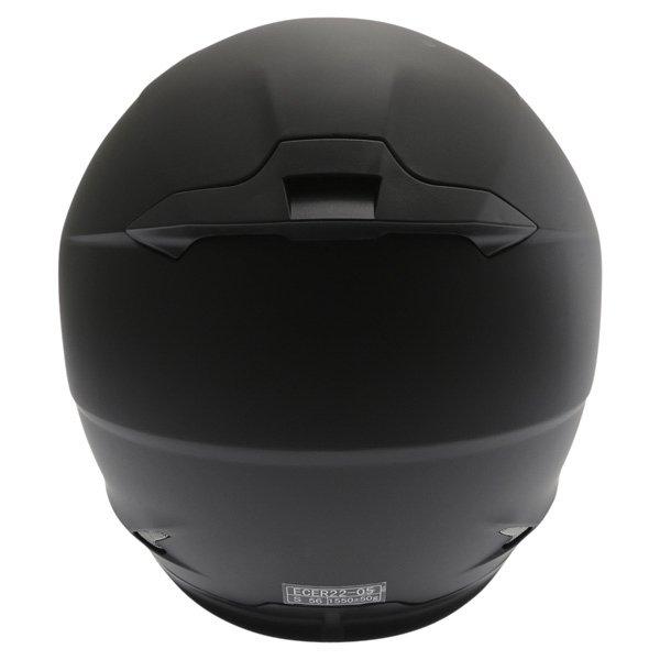 Frank Thomas FT36SV Matt Black Full Face Motorcycle Helmet Back
