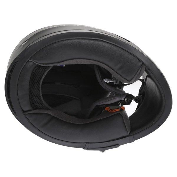 Frank Thomas FT36SV Matt Black Full Face Motorcycle Helmet Inside