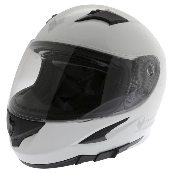 Frank Thomas FT36SV White Full Face Motorcycle Helmet Front Left