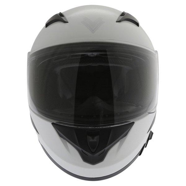 Frank Thomas FT36SV White Full Face Motorcycle Helmet Front