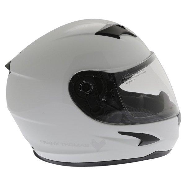 Frank Thomas FT36SV White Full Face Motorcycle Helmet Right Side