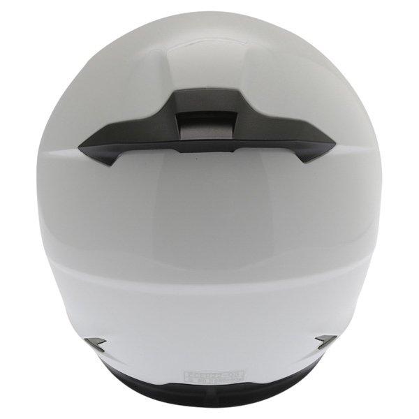 Frank Thomas FT36SV White Full Face Motorcycle Helmet Back