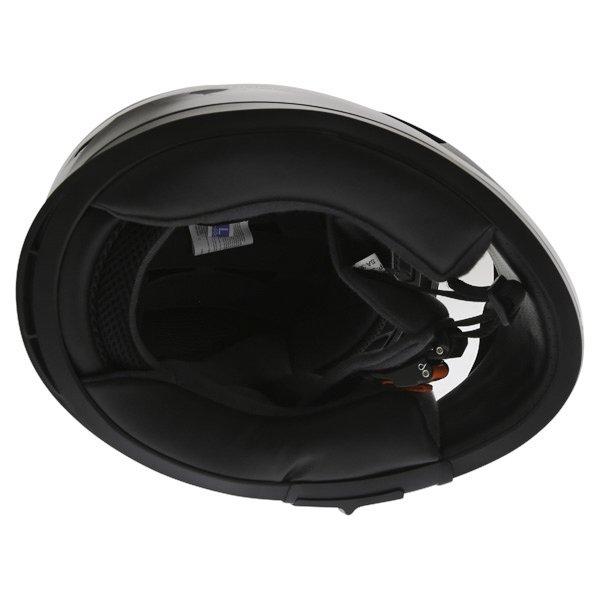 Frank Thomas FT36SV Retro Black White Full Face Motorcycle Helmet Inside