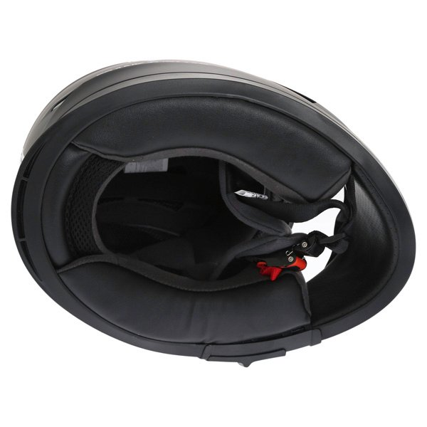 Frank Thomas FT36SV Retro Matt Black White Full Face Motorcycle Helmet Inside
