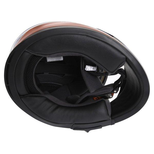 Frank Thomas FT36SV Modena White Red Blue Full Face Motorcycle Helmet Inside
