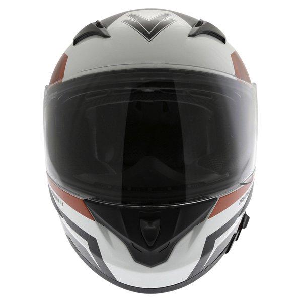 Frank Thomas FT36SV Modena White Red Black Full Face Motorcycle Helmet Front