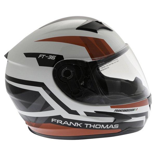 Frank Thomas FT36SV Modena White Red Black Full Face Motorcycle Helmet Right Side