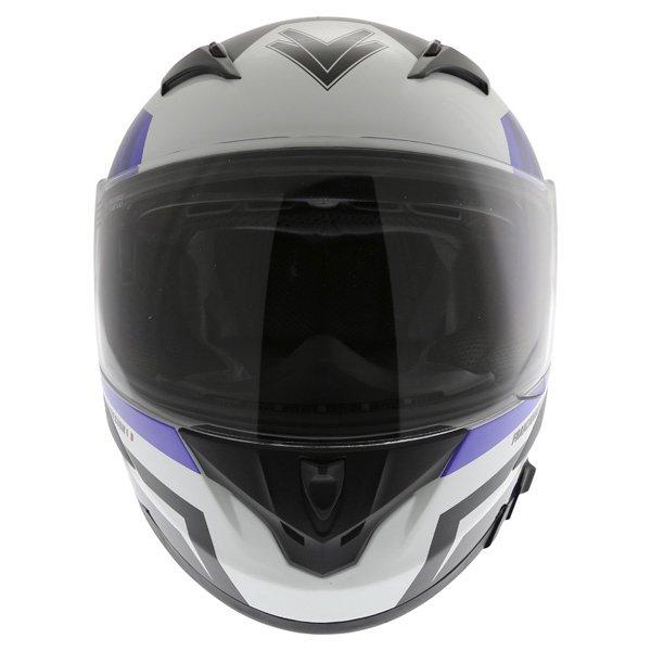 Frank Thomas FT36SV Modena White Blue Black Full Face Motorcycle Helmet Front