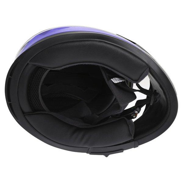 Frank Thomas FT36SV Modena White Blue Black Full Face Motorcycle Helmet Inside