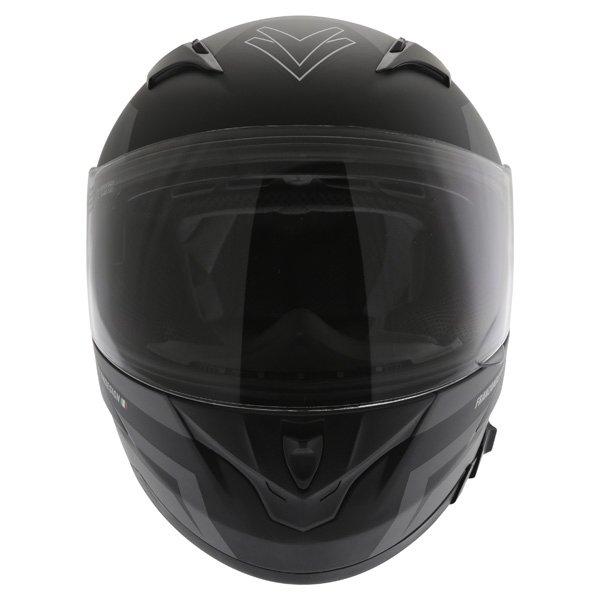 Frank Thomas FT36SV Modena Matt Black Grey Full Face Motorcycle Helmet Front