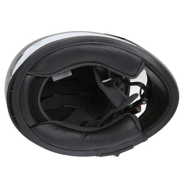 Frank Thomas FT36SV Modena Matt Black Grey White Full Face Motorcycle Helmet Inside