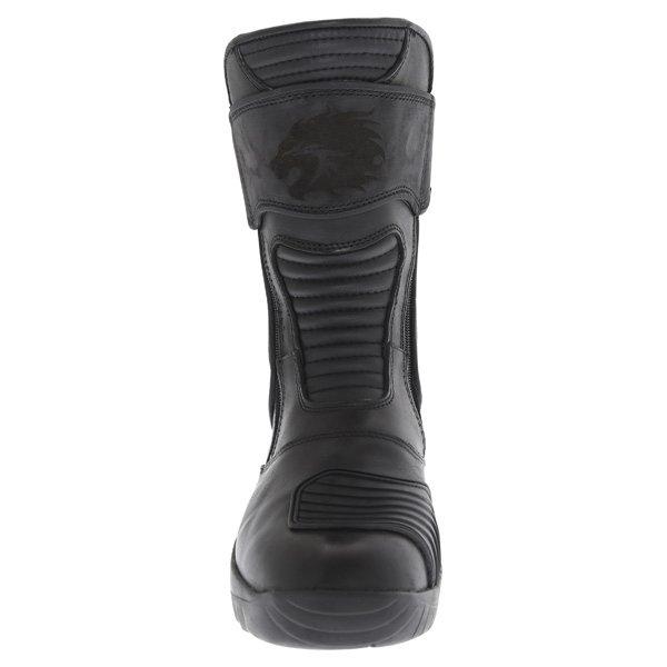 BKS Storm Black Waterproof Motorcycle Boots Front