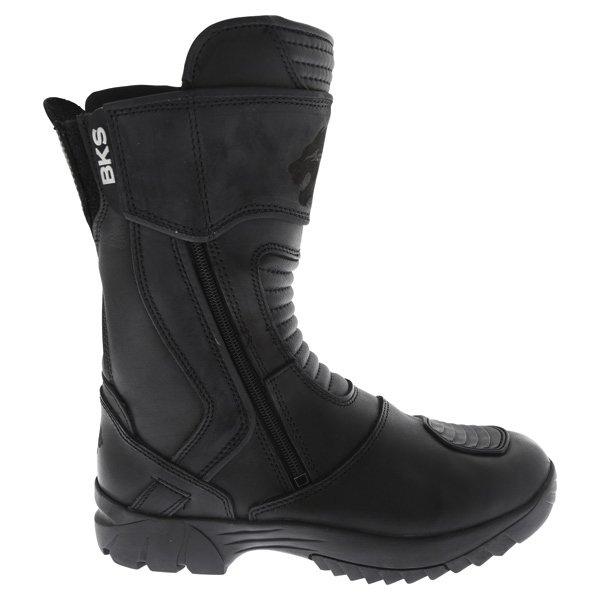BKS Storm Black Waterproof Motorcycle Boots Outside leg
