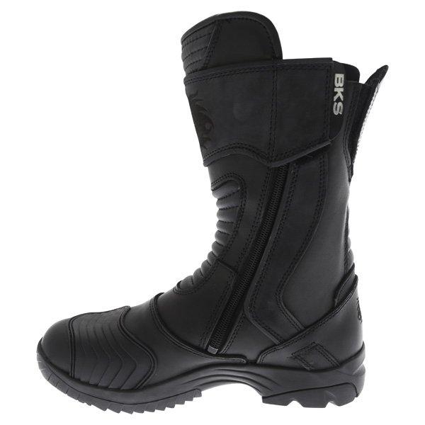BKS Storm Black Waterproof Motorcycle Boots Inside leg
