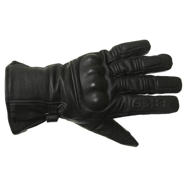 BKS Cruiser Knuckle Black Waterproof Motorcycle Gloves Back