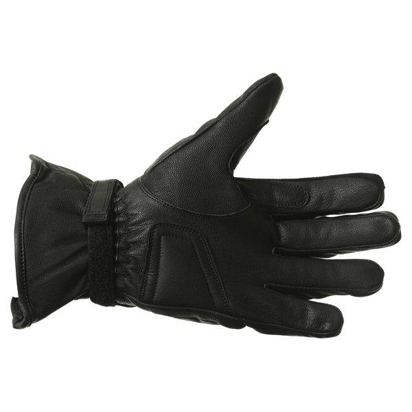 BKS Cruiser Knuckle Black Waterproof Motorcycle Gloves Palm