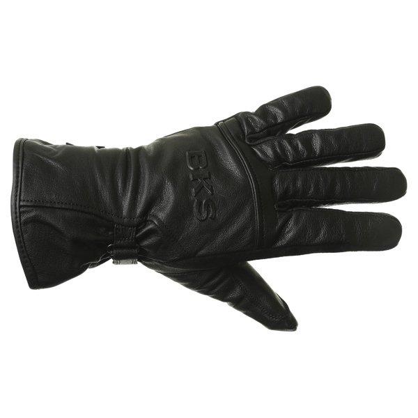 BKS Cruiser Black Waterproof Motorcycle Gloves Back