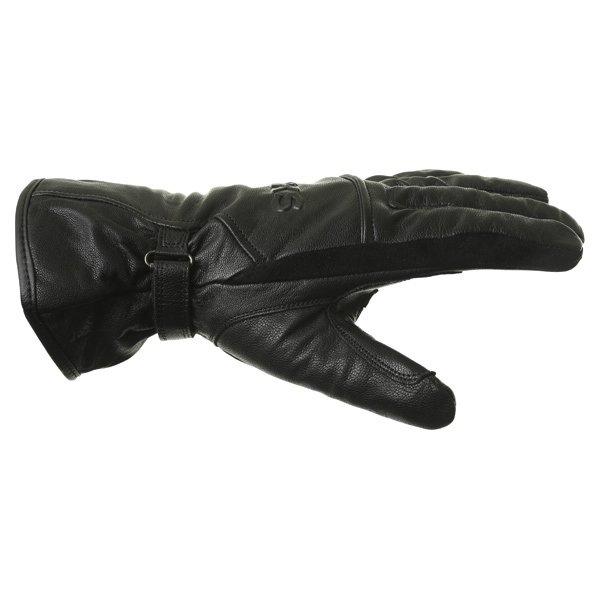 BKS Cruiser Black Waterproof Motorcycle Gloves Thumb side
