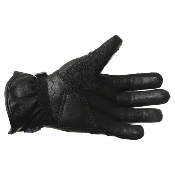 BKS Cruiser Ladies Waterproof Black Motorcycle Gloves Palm