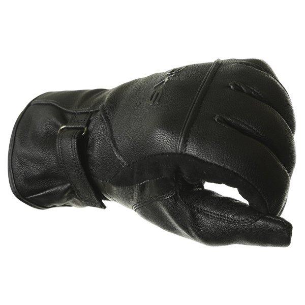 BKS Cruiser Ladies Waterproof Black Motorcycle Gloves Knuckle