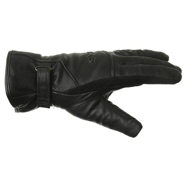 BKS Cruiser Ladies Waterproof Black Motorcycle Gloves Thumb side
