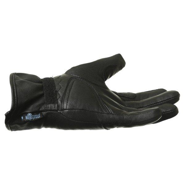 BKS Cruiser Ladies Waterproof Black Motorcycle Gloves Little finger side