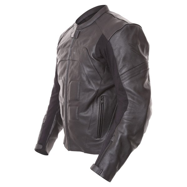 Frank Thomas FTL500 Fusion Sports Black Leather Motorcycle Jacket Side