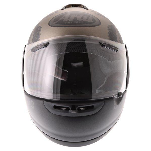 Arai Axces II Roar Sand Full Face Motorcycle Helmet Front