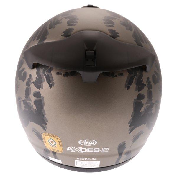 Arai Axces II Roar Sand Full Face Motorcycle Helmet Back