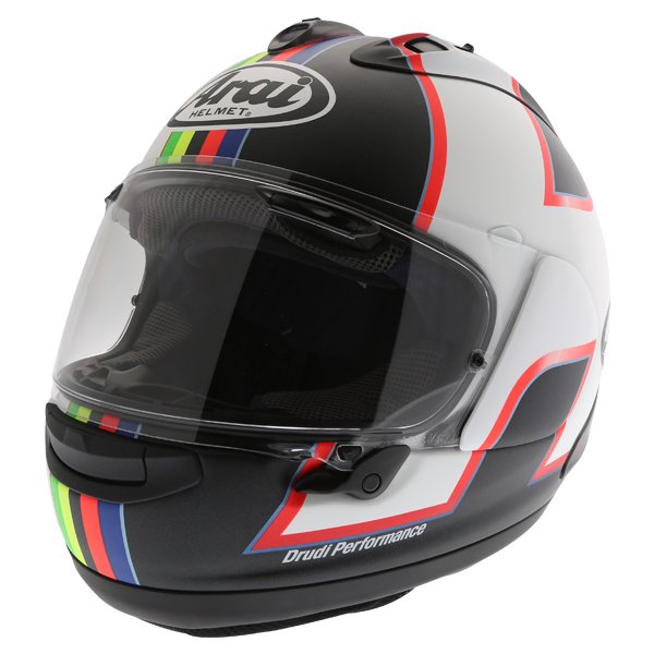 Arai RX-7V Haslam Black Full Face Motorcycle Helmet Front Left